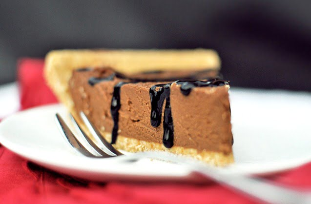 No-Bake Chocolate Pumpkin Pie by Chocolate Covered Katie