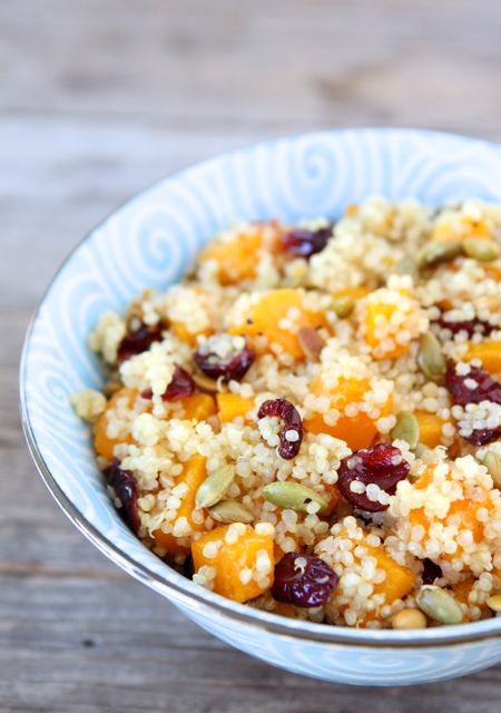 Quinoa Salad with Butternut Squash, Dried Cranberries & Pepitas by Two ...
