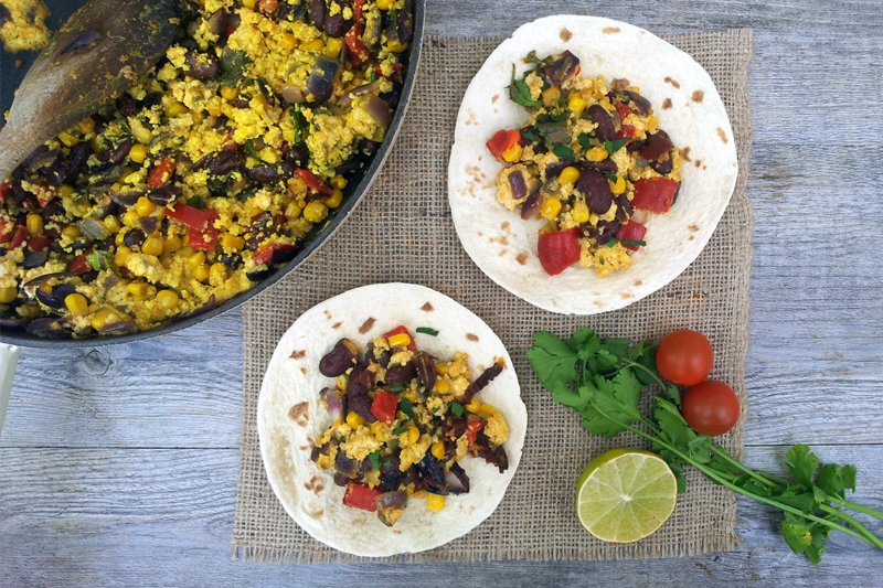 Mexican Tofu Scramble [vegan] -