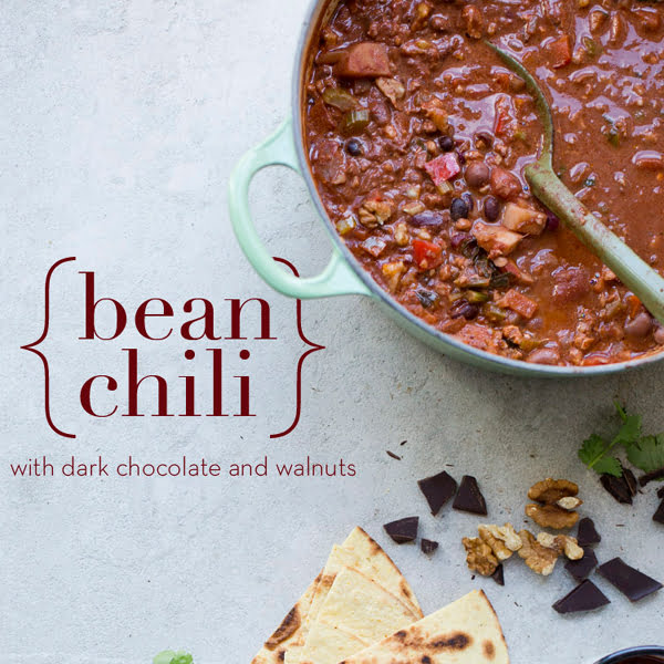 Bean Vegetarian Chilli with Walnuts & Chocolate by Green Kitchen ...