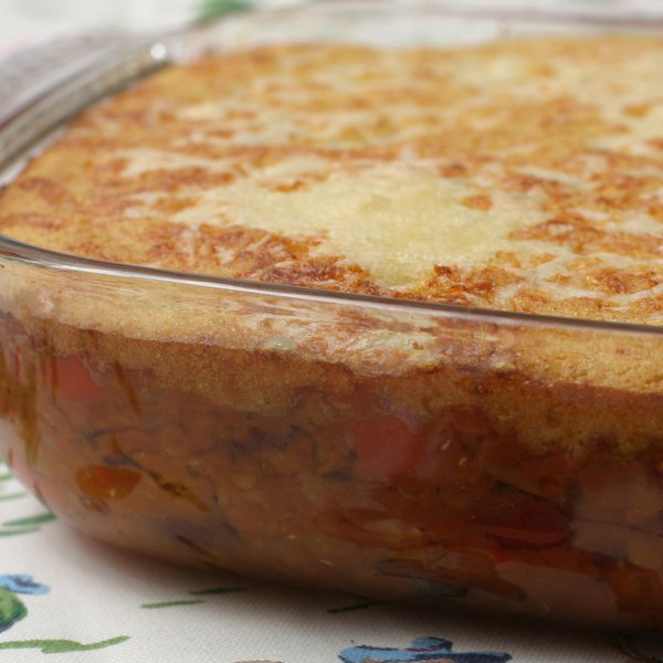 Vegetarian Chilli With Corn Bread Topping by Nigella Lawson