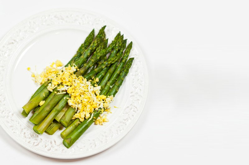 Traditionally Asparagus Mimosa is a simple dish of asparagus, eggs and ...