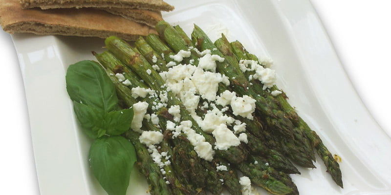 grilled asparagus feta
