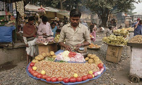 Meat-free meals and snacks can be found on almost every corner in India. Photograph: Earl & Nazima Kowall/CORBIS