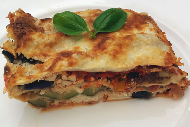 vegetarian Smoked Tofu Lasagna