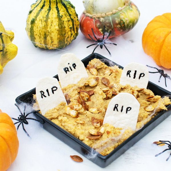 Halloween Pumpkin Dip [vegan] by The Flexitarian