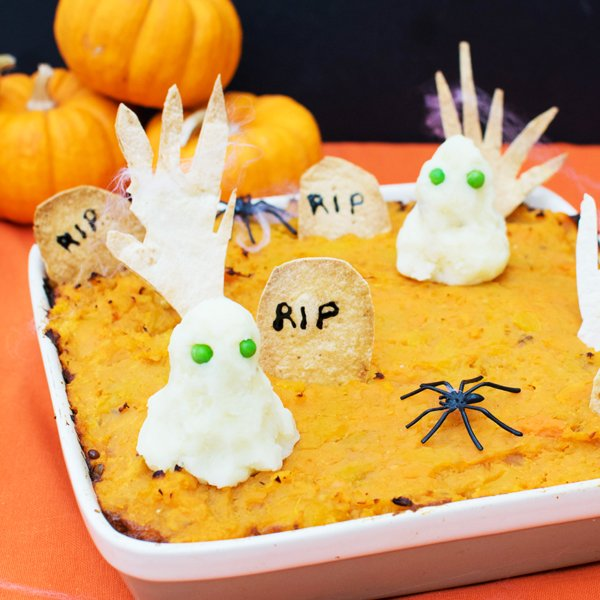 Halloween Shepherd's Pie [vegan] by The Flexitarian