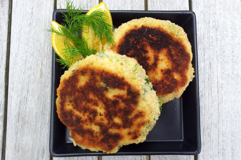 Coley and Leeks Fish Cakes