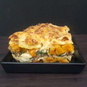 Butternut Squash, Spinach and Mushroom Lasagna [vegetarian]