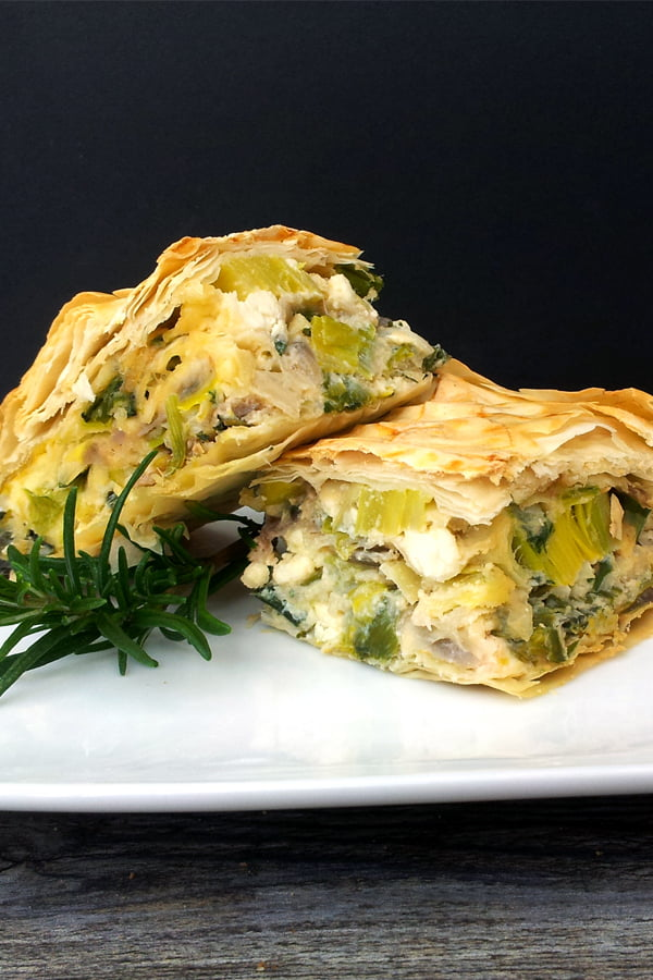 "Leek With Feta ""Börek"" Pie [vegetarian] © The Flexitarian - Annabelle Randles"