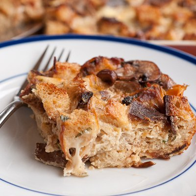 Strata with Caramelized Onions, Mushrooms and Smoked Mozzarella by ...