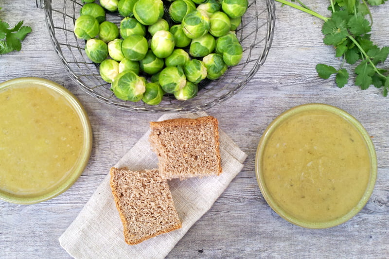 curried brussels sprouts soup