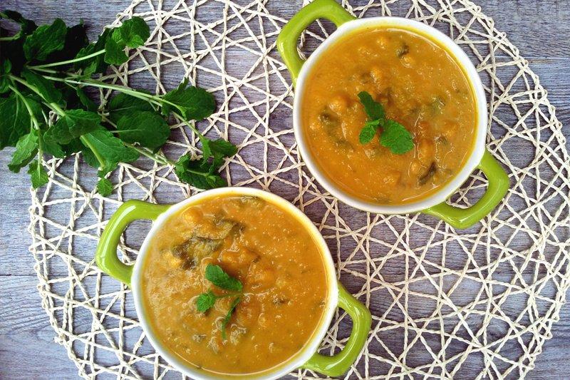 Jerusalem artichokes carrots and potato soup