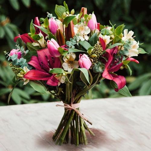 Pure Pink - Seasonal British Flowers Bouquet