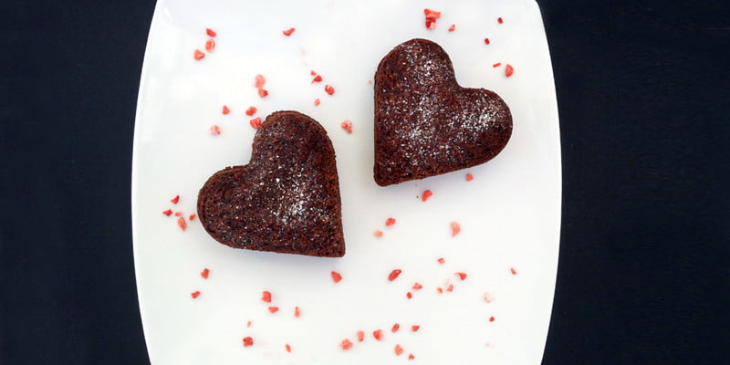 double chocolate hearts