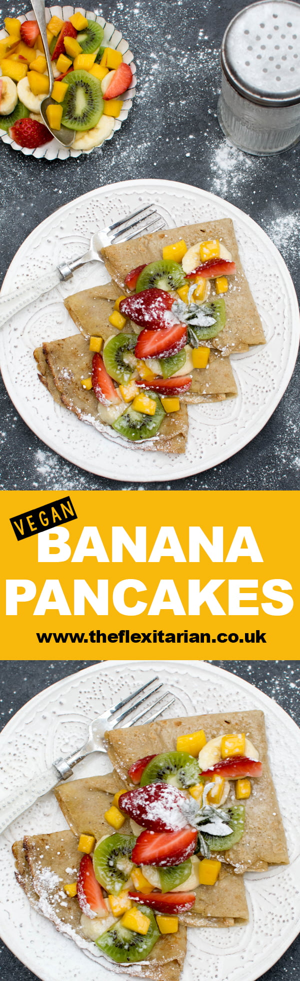 Banana Pancakes [vegan] by The Flexitarian