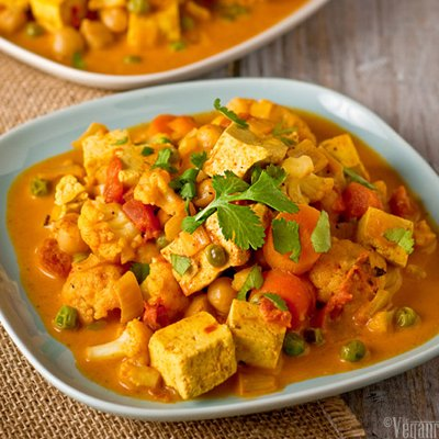 Cauliflower & Tofu Curry by The Vegan Road