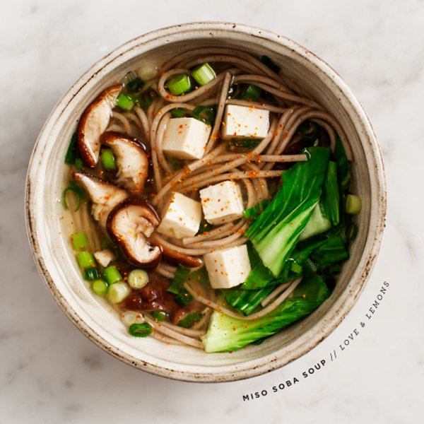 Miso Shiitake Soba Soup by Love & Lemons