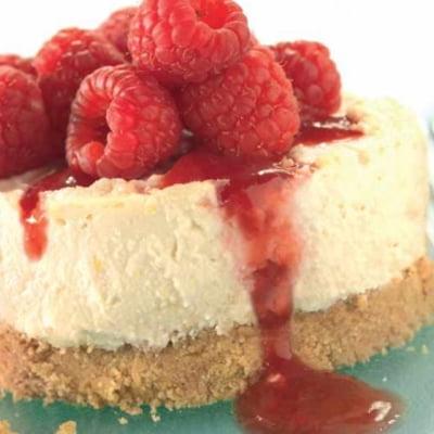 Raspberry Tofu Cheesecake by Cook Vegetarian