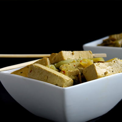 Slow-Cooker Coconut Basil Tofu by The Healthy Maven