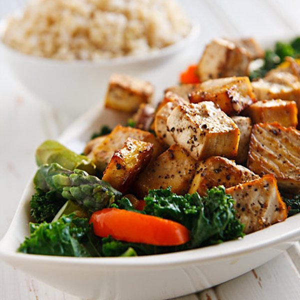 Thai Black Pepper and Garlic Tofu by Fat Free Vegan