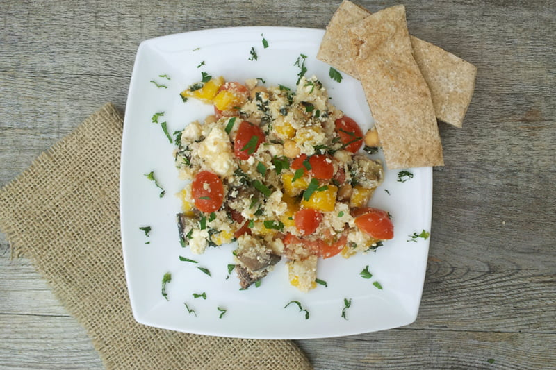 Cauliflower Couscous With Aubergine and Mango [vegetarian] by The Flexitarian