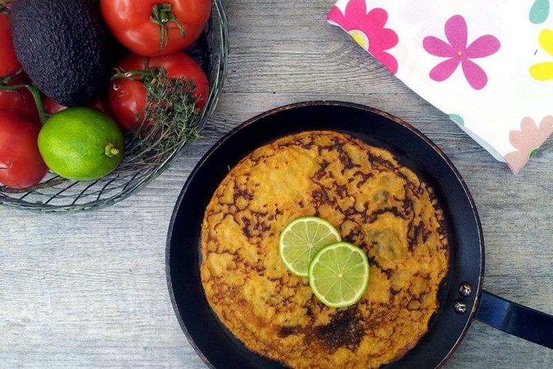 Vegan Sweet Potato Pancake by The Flexitarian