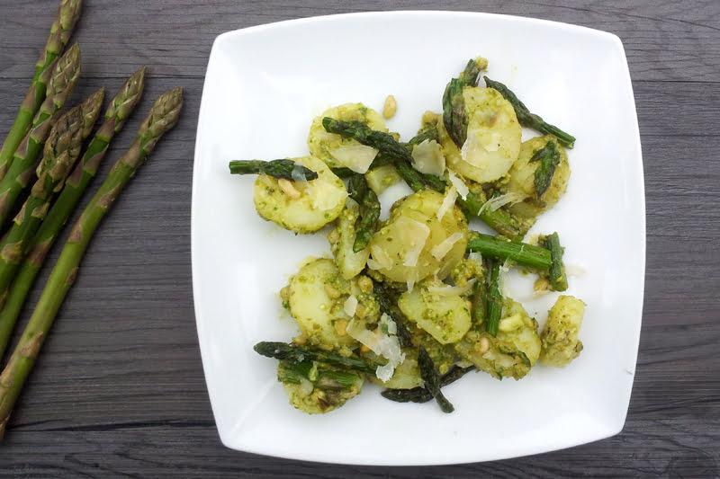Asparagus & New Potato Salad In Caper Pesto Dressing [vegan]