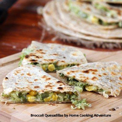 Broccoli Quesadillas by Home Cooking Adventure