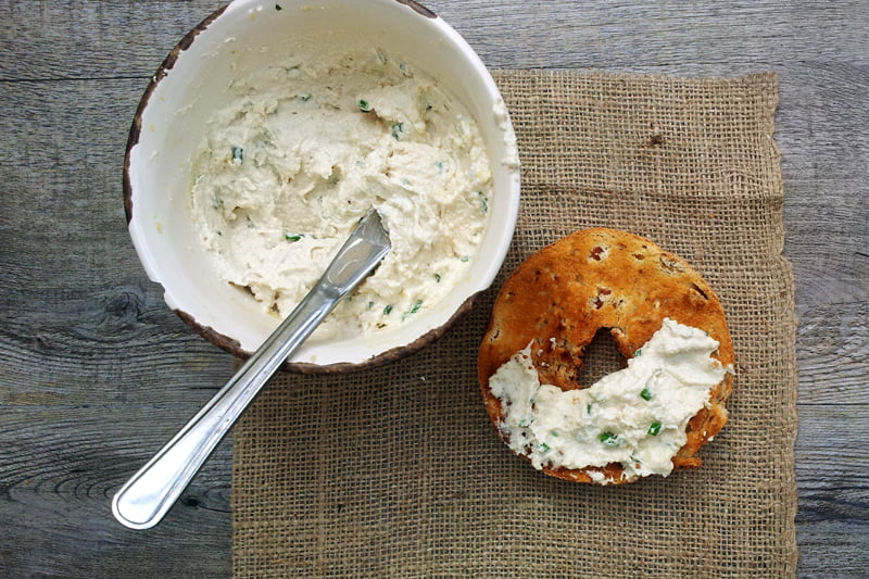 Cashew Cream Cheese With Chives [vegan] by The Flexitarian
