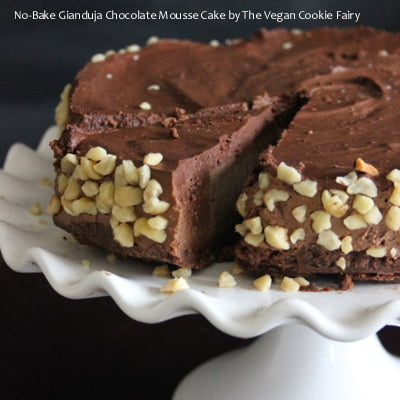 No-Bake Gianduja Chocolate Mousse Cake by The Vegan Cookie Fairy