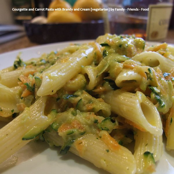 Courgette and Carrot Pasta with Brandy and Cream [vegetarian] by Family - Friends - Food