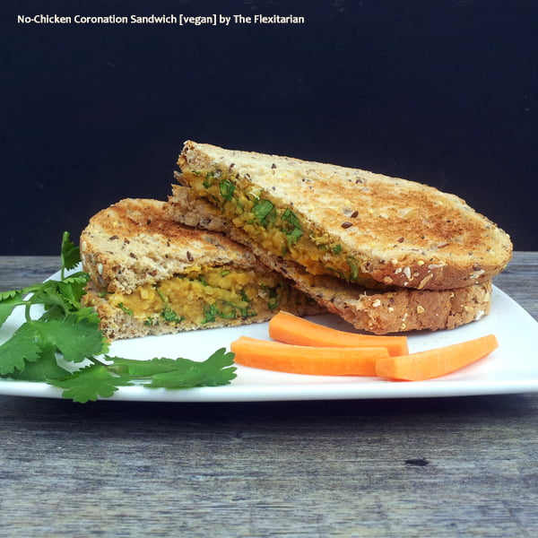 No-Chicken Coronation Sandwich [vegan] by The Flexitarian
