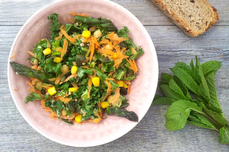 Asparagus, Kale and Tahini Salad [vegan] by The Flexitarian