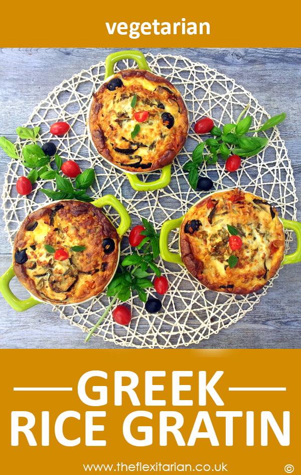 Greek Rice Gratin vegetarian by The Flexitarian - Annabelle Randles ©