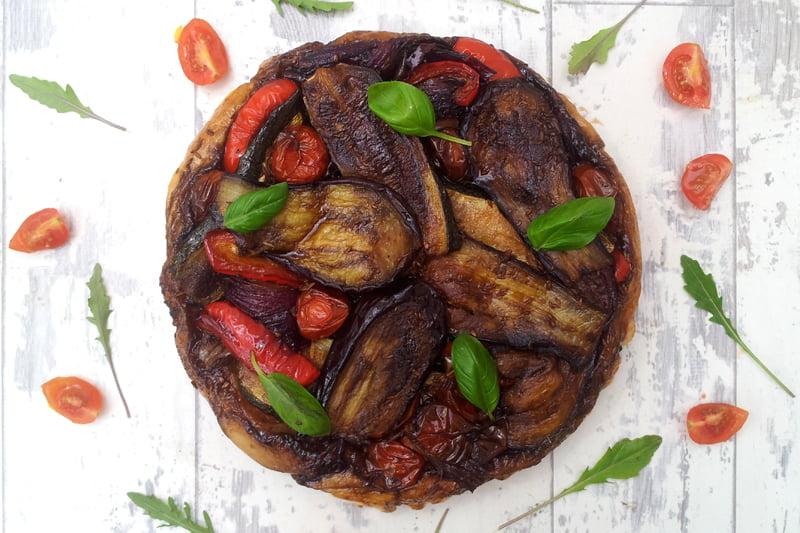 Roasted Mediterranean Vegetable Tatin