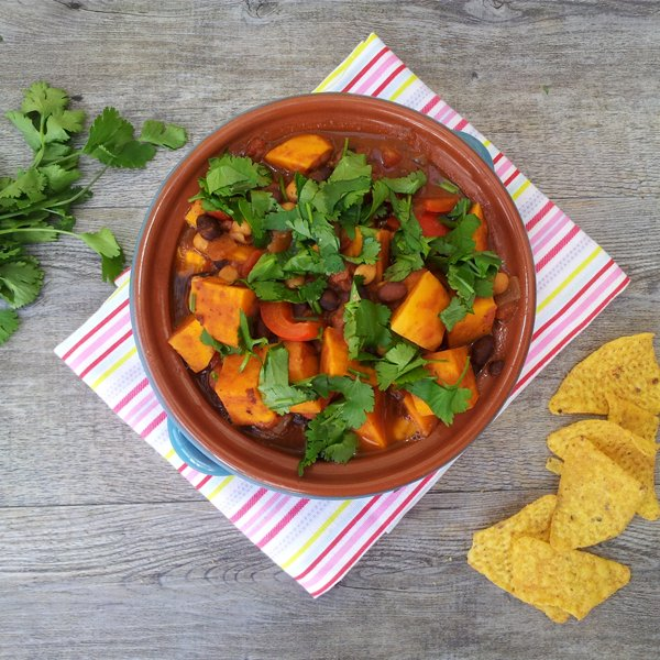 Sweet Potato, Black Bean and Chickpea Chili [vegan] by The Flexitarian