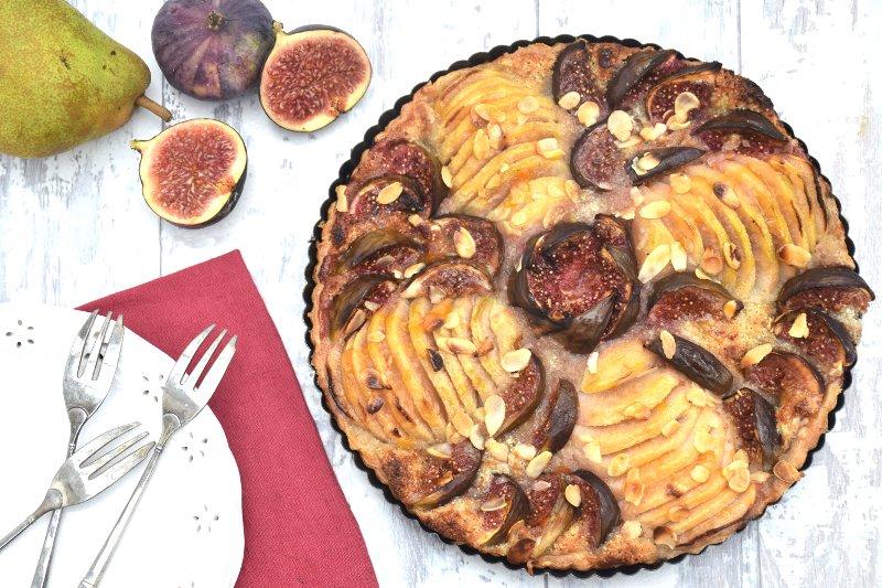 Pear & Fig Tart [vegan]
