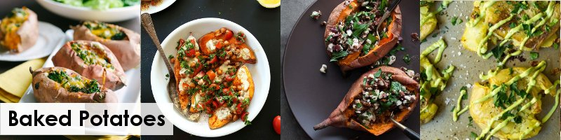 30 Meat Free Recipes For Bonfire Night - baked potatoes