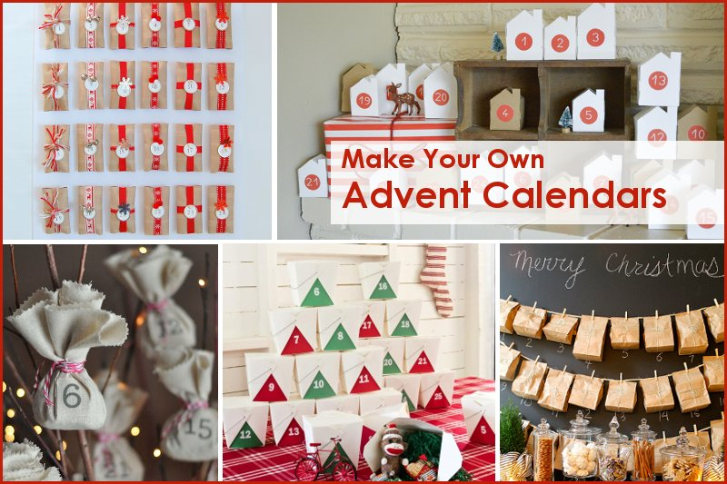 Make Your Own: 5 Advent Calendars -