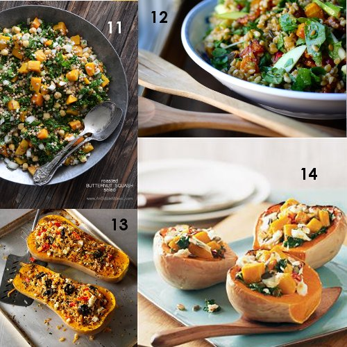 11. Roasted Butternut Squash Salad with Chickpeas, Kale, and Pearl ...