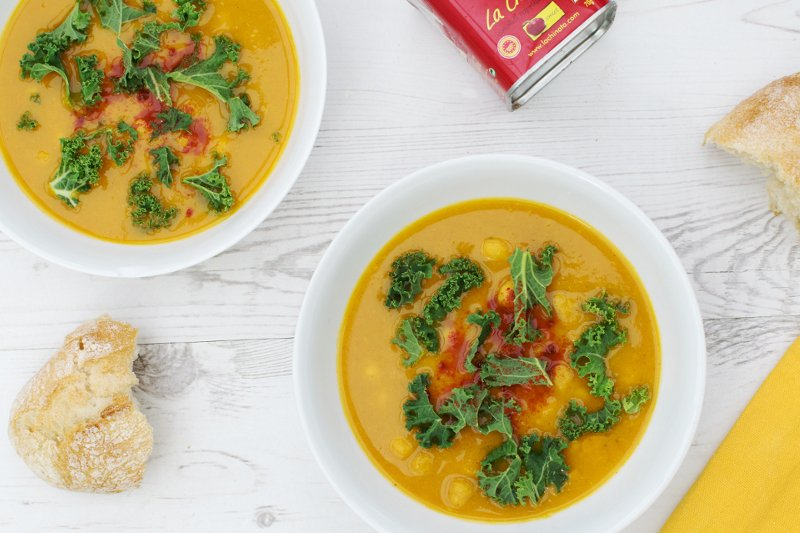 Butternut Squash, Parsnip & Kale Soup #vegan by The Flexitarian