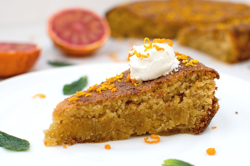 Gluten Free Vegan Almond Orange Cake