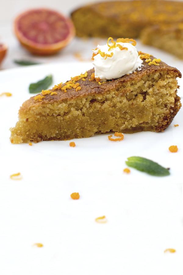 Blood Orange Polenta Cake [vegan] [gluten free] © The Flexitarian - Annabelle Randles