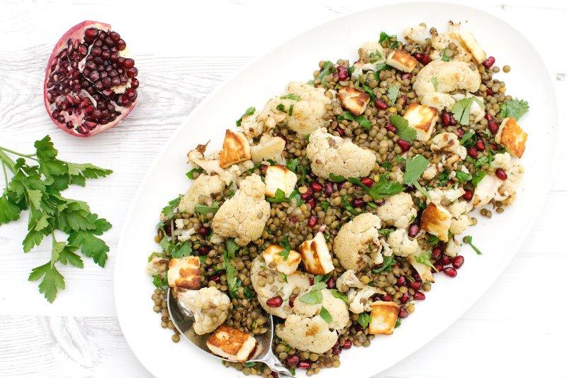 Roasted Vegetables With Pomegranate Vinaigrette Recipe — Dishmaps