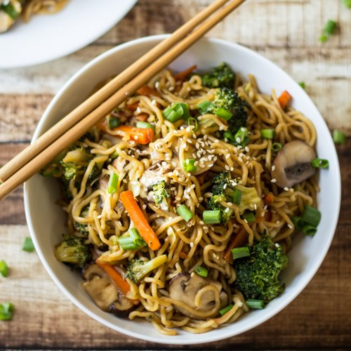 Veggie Loaded Chow Mein [vegetarian] by The Wanderlust Kitchen