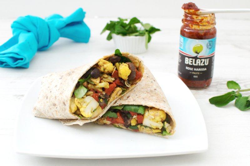 Cauliflower, Black Beans & Artichokes Wrap [vegan] by The Flexitarian