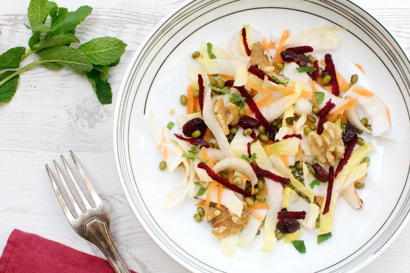 Mung Beans & Chicory Salad With Orange Vinaigrette [vegan] by The Flexitarian