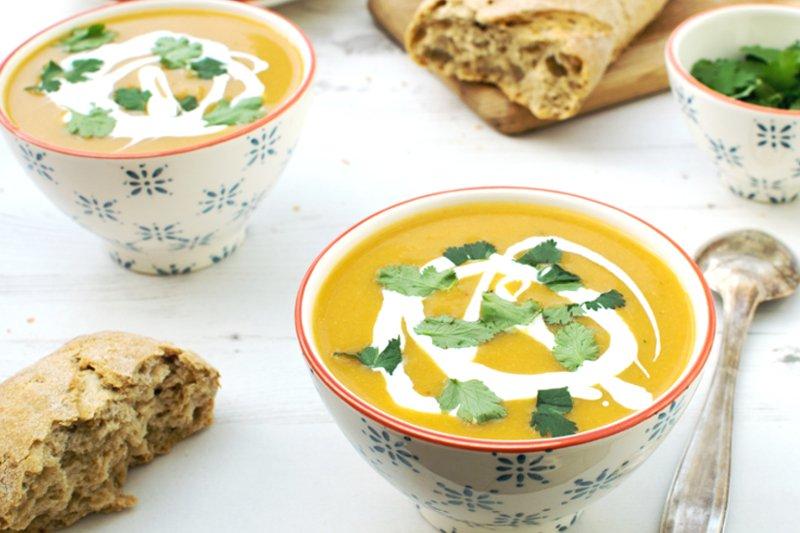 Spicy Butternut Squash Cauliflower Soup [vegan] by The Flexitarian