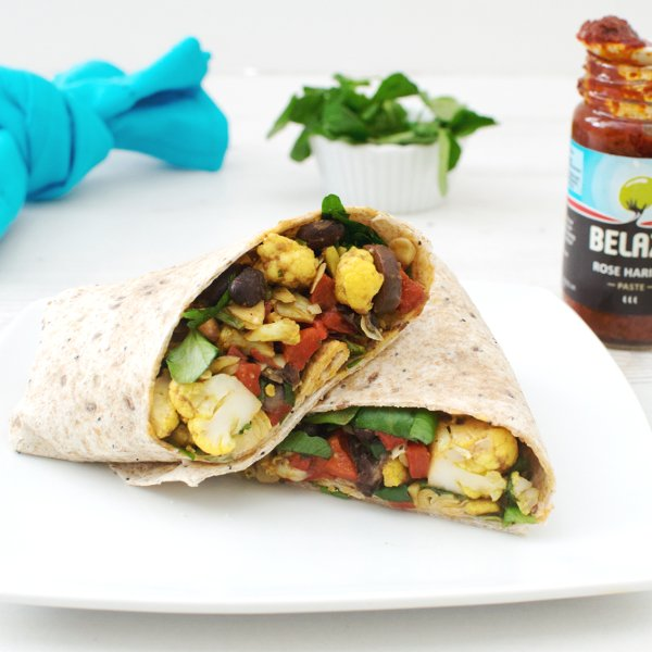 Cauliflower, Black Bean & Artichoke Wrap [vegan] by The Flexitarian